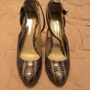Inc snake print heels